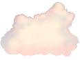 Clouds Medium 1 Pink Stylized