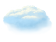 Clouds Medium 3 Blue Stylized