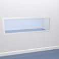 cvsa châssis vitré semi-affleurant