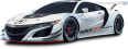 image - entourage - acura nsx gt3 racing white car 1