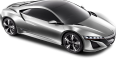image - entourage - acura nsx silver car 1