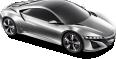acura nsx silver car 2