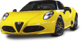 alfa romeo 4c spider yellow car 2