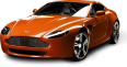image - entourage - aston martin v8 vantage n400 orange car 3