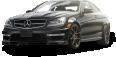 Black Mercedes Benz C63 AMG Car 12