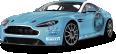 Blue Aston Martin V12 Vantage Car 15
