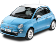 Blue Fiat 500 Vintage 57 Car 8
