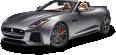 Gray Jaguar F TYPE SVR Convertible Car 42