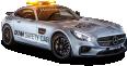 Gray Mercedes AMG GTS Safety Car 35