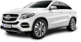 Mercedes Benz GLE Coupe White Car 45