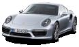 Porsche 911 Turbo Silver Car 81