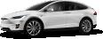 Tesla Model X White Car 110