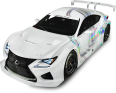 White Lexus RC F Car 67
