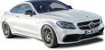 White Mercedes AMG C63 S Coupe Car 122