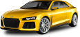 yellow audi car 94