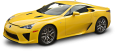 Yellow Lexus LFA Car 50