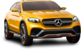Yellow Mercedes Benz GLC Coupe Car 63
