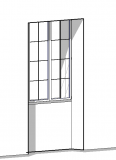 Fenêtre bois à embrasure paramétrique