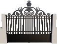 portail fer forgé avec volute