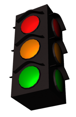Suspended Traffic Light