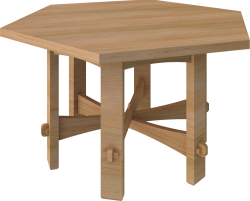 Stickley Hexagon Table