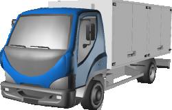 D120 Truck Fridge Lorry