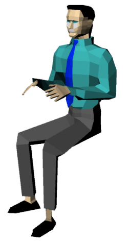 Man Sitting 3D