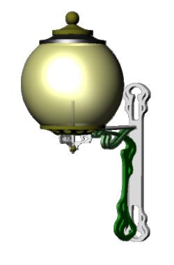 Street Art Deco Lamp