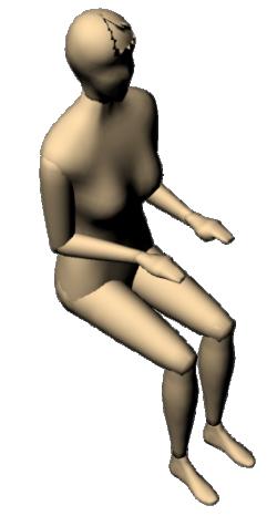 Woman Sitting 3D 01