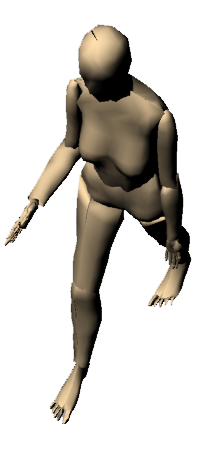 Woman Walking 3D 01
