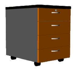 Arrangement 3 drawers