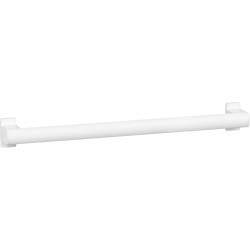 ARSIS straight grab bar, 600 mm, White Epoxy-coated Aluminium - 049860