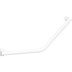 ARSIS 135° angled grab bar, 400 x 400 mm, White Epoxy-coated Aluminium - 049833