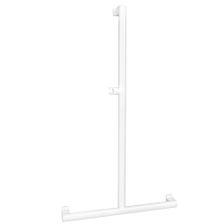ARSIS T- or L-shaped shower bar, White Epoxy-coated Aluminium - 049820