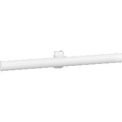 Double towel rail, 538 x 69 x 67,5 mm, White Epoxy-coated Aluminium , tube 38 x 25 mm - 049812