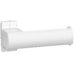 Toilet roll holder, 155 x 69 x 67,5 mm, White Epoxy-coated Aluminium , tube 38 x 25 mm - 049813