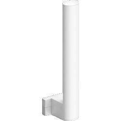 Toilet paper reserve, 265 x 69 x 67,5 mm, White Epoxy-coated Aluminium , tube 38 x 25 mm - 049815