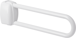 Hinged bar, 600 mm, White Epoxy-coated Aluminium, tube Ø 30 mm - 048860