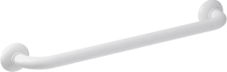 ERGOSOFT straight grab bar, 600 mm, White Polyalu, tube Ø 33 mm - 046165