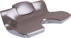 ERGOSOFT shower seat, 486 x 595 x 620 mm, White & Taupe Polypropylene, - 047680