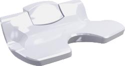 Siege de douche Ergosoft Relevable blanc, fixe - 047681