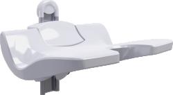 ERGOSOFT shower seat, 486 x 595 x 620 mm, White Polypropylene, with adjustable seat - 047686