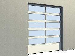 Porte Industrie vitree 01 Levee Verticale