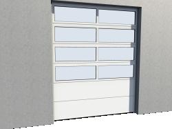 Porte Industrie vitree 02 Levee Verticale