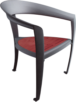 Nastra wood armchair