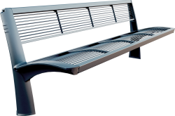 Vesta mesh bench
