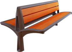 Vesta double wooden bench