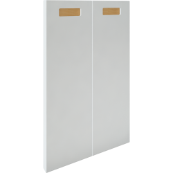 2 Door Corner Base Cabinet Set Right Hand White