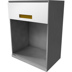 METOD MAXIMERA Wall Cab with 2 Glass Doors 2 Drawers White Torhamn Ash