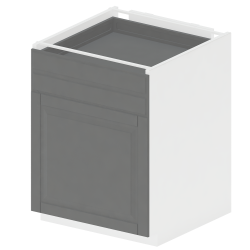 METOD MAXIMERA Base Cabinet with Doors 2 Drawers White Bodbyn Gray